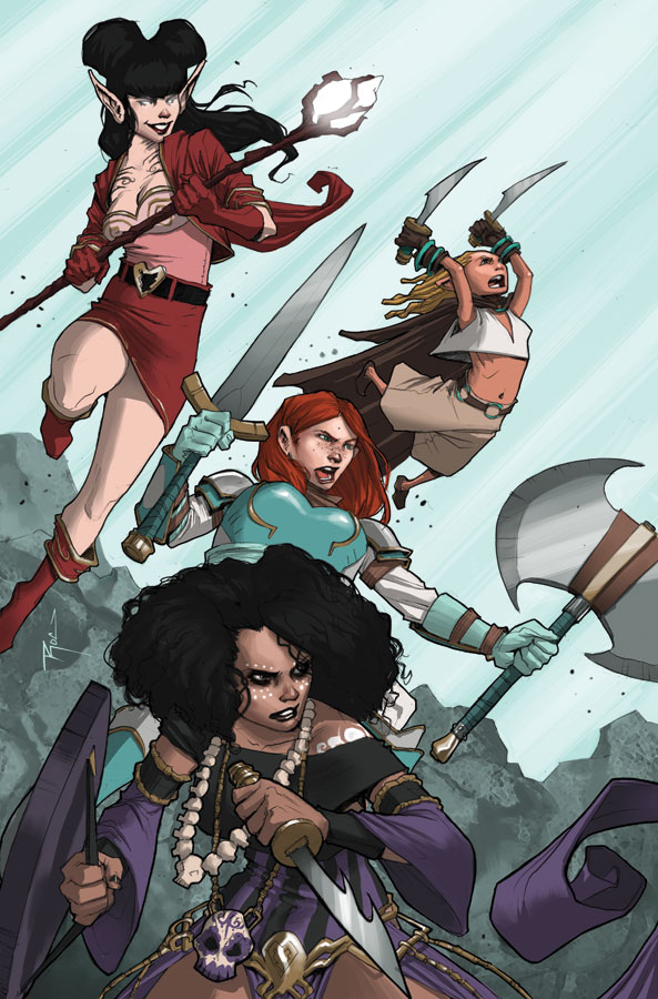 Rat Queens #2 cover by Roc Upchurch